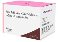 Folic Acid and Zinc Sulphate Softgel Capsules