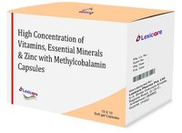 High Concentration of Vitamine and Essential Minerals and Zince and Methylcobalamine Softgel Capsules
