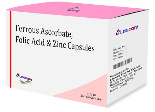Ferrous Ascorbate and Folic Acid and Zinc Softgel Capsules