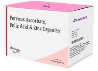 Ferrous Ascorbate and Folic Acid and Zinc Softgel Capsules