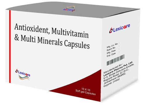 Antioxidants and Multivitamin and Multi Minerals Softgel Capsules