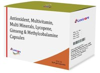 Antioxidant and Multivitamin and Multi Minerals and Lycopene and Ginseng and Methylcobalamine Softgel Capsules