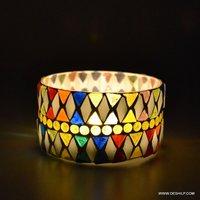BEAUTIFUL DESIGN GLASS T LIGHT CANDLE VOTIVE