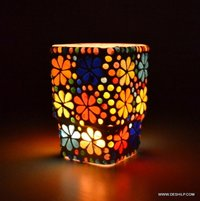 Shaped Geometric Candle Stand for Indoor/Outdoor Lighting