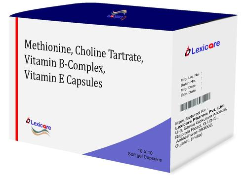Methionine and Cholin Tratrate and Vitammin B-Complex and Vitamin E Softgel Capsules
