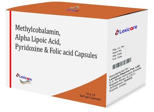 Methylcobalamine and Alpha Lipoic Acid and Pyridoxine and Folic Acid Softgel Capsules