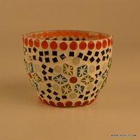 Handmade Mosaic Glass Candle Holder Diwali Decorations Items