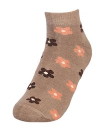 Women's Terry Designer Ankle Length Socks