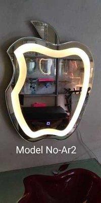 Apple shape LED mirror