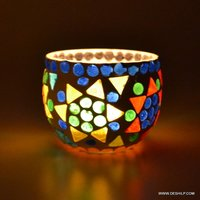 Multi Color Changing Flame Designer Paper Votive Holder