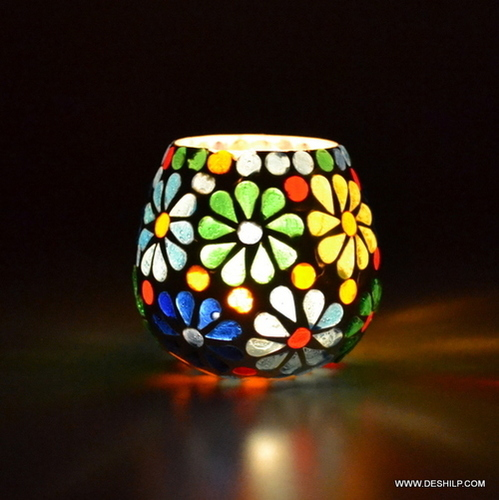 Home Enchanted Glass Cup Candle Holder
