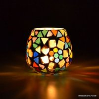 Decor Home Enchanted Glass Cup Candle Holder