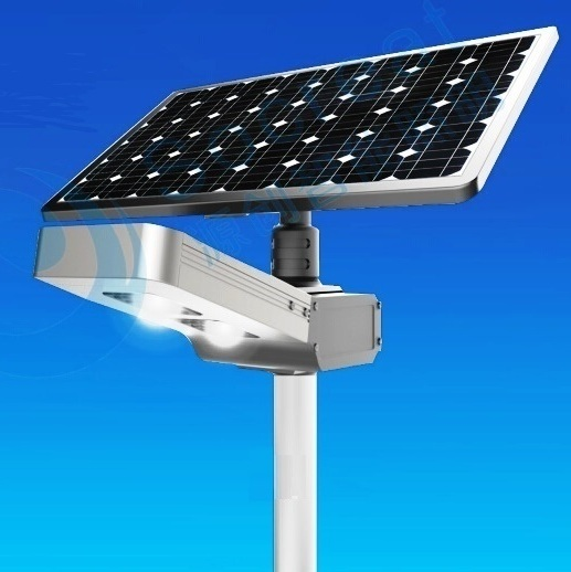 1800-5000 Lumens Fully Automatic Remote Controlled Separate Panel All-In-One LED Solar (Night Walk) Street Light