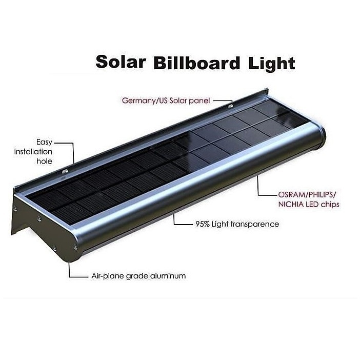 5-10-20 Watts Fully Automatic All-In-One LED Solar Outdoor BILLBOARD Light