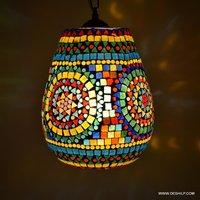 Mosaic Hanging Lamps Flowers Desgin Mosaic Glass Hanging Light