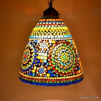 Hanging Lamps Flowers Desgin Mosaic Glass Hanging Light Hanging Lantern Hanging Lantern