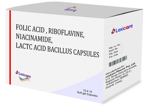 Folic Acid, Riboflavine, Niacinamide, Lactac Acid Bacillus Softgel Capsules