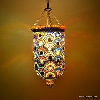 Home Decor Night Hanging Lamp Mosaic Glass Hanging