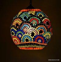 Mosaic Hanging Lamp Chandelier Mosaic Home Decor Night Hanging Lamp Premium Printed Red Hanging