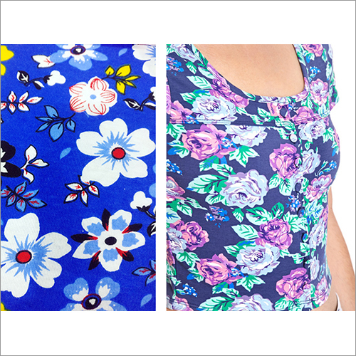 Ladies Top Printed Cotton Fabric