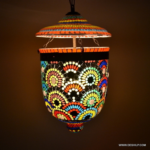 Large hanging pendant Lantern Candle holder lamp Floor Stand outdoor
