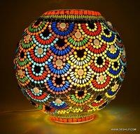 Multicolour Mosaic Table Lamp desk lamp study