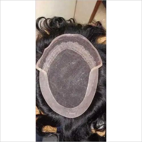 100% real human hair toupee