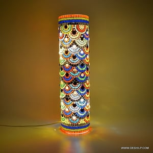Multicolour Mosaic Style Dome shaped Glass Table Lamp Gifts & Decor Mosaic Glass Table Lamp