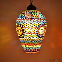 Home Decor Pendant Ceiling Light Hanging Night Lamp Multicolor Glass Home Decor Pendant Light Hanging Lamp