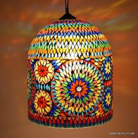 Decor Pendant Ceiling Light Hanging Night Lamp Pendant Light Hanging Lamp Hanging Colored Glass