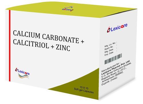 Calcium Carbonate and Calcitriol and Zinc Softgel Capsules
