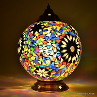 Traditional Mosaic Glass Table Lamp Table Lamp Handcrafted Colourful