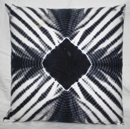 Black Square Tie & Dye Cushion