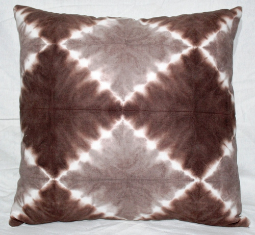 Beige & Brown Tie & Dye Cushion