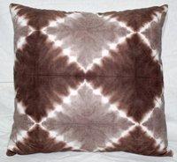 Beige & Brown Tie & Dye Cushion