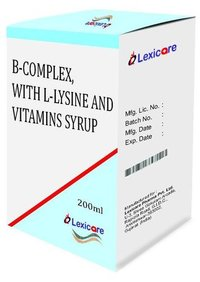 Multivitamin and L-Lysine and Vitamin Syrup