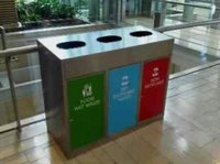 Stainless Steel Mall Dustbin