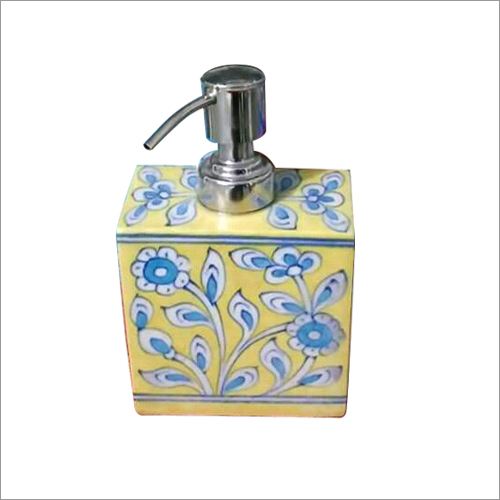Decorative Blue Pottery Dispenser