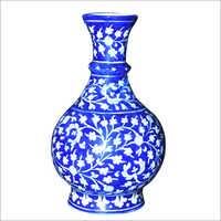 Surahi Flower Blue Pottery Vase