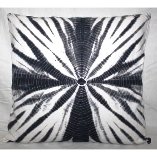 Black Tie & Dye Cushion