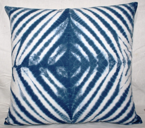 Indigo Blue Tie & Dye Cushion