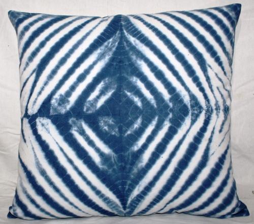 Indigo Blue Tie & Dye Cushion