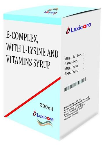 Vitamin B-Complex and L-Lysine and Vitamins Syrup