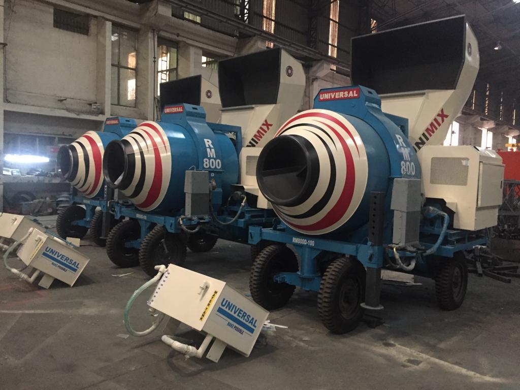 Diesel Engine Universal Concrete Mixer