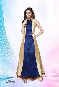 Ladies wedding blue gown