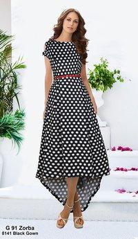 Designer latest black gown for ladies