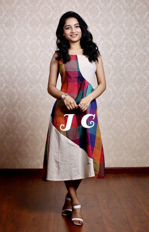 Check Design Cotton Kurti
