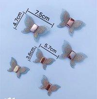 Golden Butterfly Shoe Clips