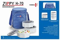 POWER PLUS ZIPPY LUNCH BAG- 3 CONTAINERS (PLASTIC)