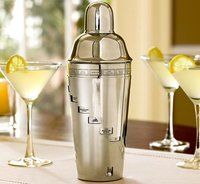 SS DIAL-A-DRINK COCKTAIL SHAKER WITH 15 RECIPES